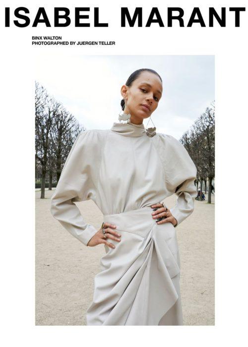 COURTESY Isabel Marant Model: Binx Walton  Photographer: Juergen Teller